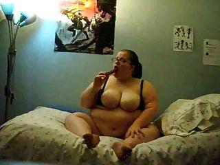 الدهون فتاة استمناء على السرير
