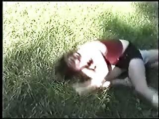 كاتفيغت على العشب