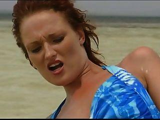 تحصل مارس الجنس البريطانية وقحة دونا ماري في البحر
