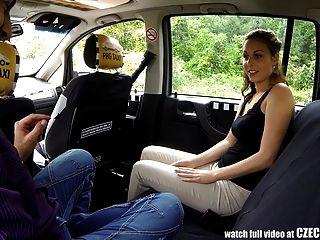 الجنس مدهش في سيارة أجرة