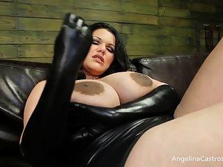 كبير أنجلينا titted كاسترو الديوك الهيمنة!