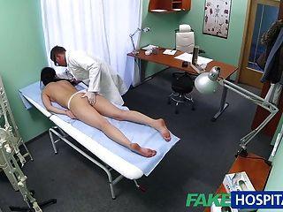 المريض مثير fakehospital يحب من وراء معها جديدة