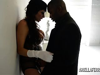 يظهر أريئيلا فيريرا الخروج ثم الملاعين سوداء الديك ضخمة
