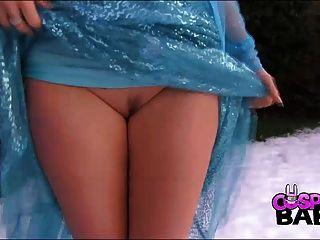 cums في الاطفال تأثيري مفلس الملكة إلسا في الثلج