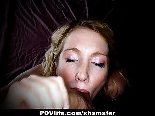 تحصل مارس الجنس povlife شقراء قرنية في الحمار على كاميرا!