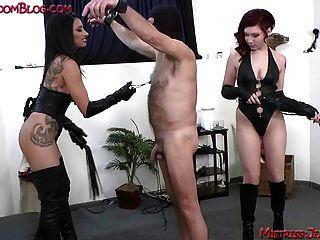 femdom لعبة تعذيب ذكر منقاد