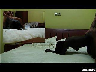 الجنس الفندق مع فتاة الساخنة الأفريقية!