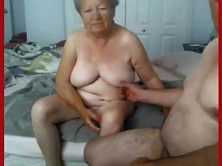 الجدة والجد عارية على كاميرا ويب