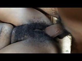 خشب الأبنوس شعر أسود وحشية