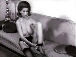 قطاع أريكة خمر النايلون جوارب التعري كبير الثدي