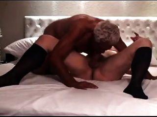 الجد الفضة مص والحصول مارس الجنس