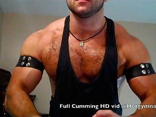 كومينغ العضلات مسمار مع شعر مشعر والحمار سميكة!