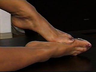 مثير أقدام النايلون