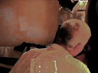 زوجة الفرنسية استعبد من قبل الديوك السوداء في حين الساعات بعل