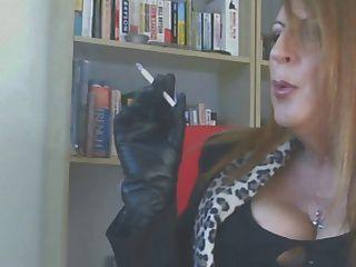قفازات جلدية التدخين