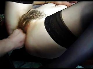 الفرنسية صب n55 شعر الشرج امرأة سمراء في الثلاثي دب