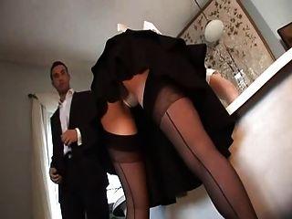 البريطانية وقحة أليشا رودس يحصل مارس الجنس في ل بعثة تقصي الحقائق مجموعة من ثلاثة أشخاص