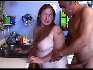 شعر أحمر الشعر تشون سكي مارس الجنس في مكانها المفضل ...