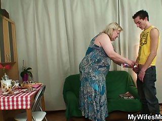 زوجة يأتي عندما أمي ركوب الخيل ديكي