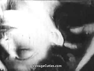 الفتيات القذرة حصلت ضبطت و مارس الجنس (1930s خمر)