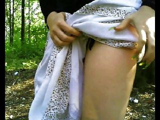 فلاش الحمار و الثدي في غابة عامة