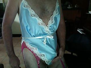 سد الملابس الداخلية الأزرق والأبيض مزجج تيدي وانك