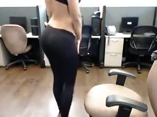 هندي ديسي حار فتاة قطاع في مكتب نري تعري