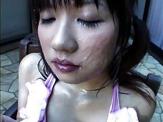 ياباني، إمرأة متزوجة، طعام، تجمد تجمد، نطفة