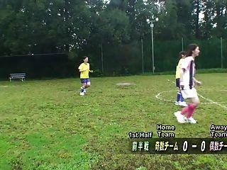 سوبتيتلد إنف كمنف اليابانية عارية كرة القدم لعبة عقوبة هد