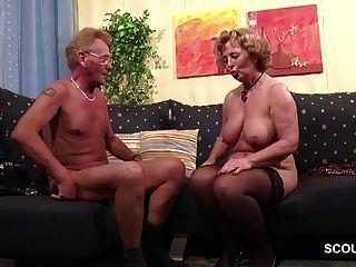 الألمانية القديمة زوجين في المرة الأولى الاباحية صب الأدوار