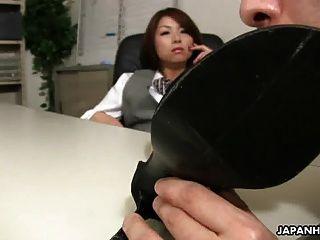 الآسيوية مكتب سيدة تسوباكي الحصول على جنس بواسطة لها رئيسه