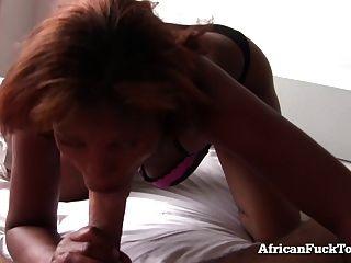 صباح جنس مع حقيقي أفريكان فتاة!
