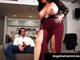 ملكة لاتينا أنجلينا كاسترو و roberta جيما يمارس الجنس مع ديك!