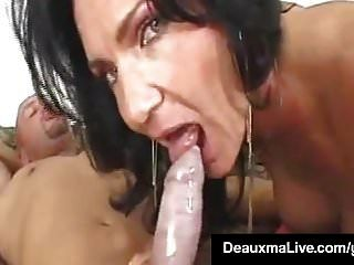 texas cougar deauxma يأخذ ديك كبيرة في بلدها butthole ناضجة