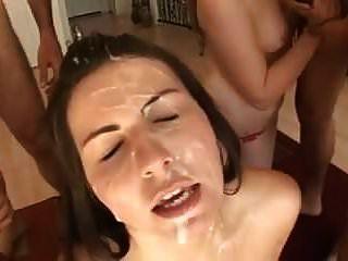 bukkake مع فتاتين تنظيف