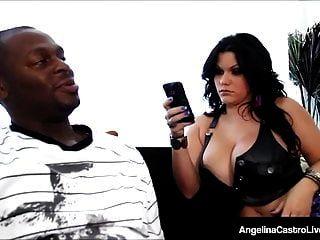 bbw الكوبي أنجلينا كاسترو صدم من قبل ديك أسود كبير!