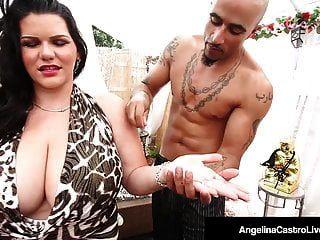 يحصل مثلج dicktaster الكوبي أنجلينا castro وصولا الى بوسها
