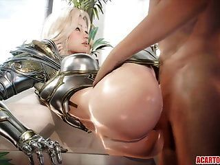 تجميع الجنس 3D مع الجنس الثابت وركوب الديك