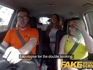 مدرسة لتعليم قيادة السيارات وهمية تجريب حزب الجنس