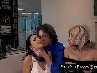 تطمح العروس آشلي آدمز facialized مع مشاهدة العريس