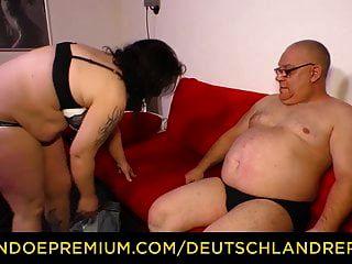 deutschland تقرير السمين ناضجة مع كبير الثدي الجوفاء