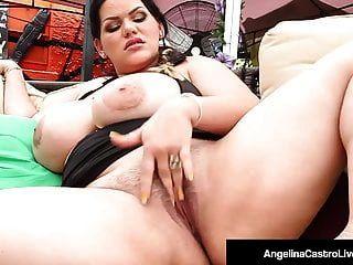 كوبان المرأة الجميلة كبيرة أنجلينا castro fingers pussy \u0026 mouth fucks ل كوك